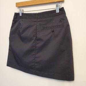 Adidas Black Stretch Sport Skort Skirt Sz 2